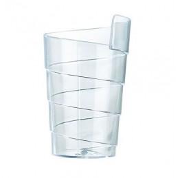 """Verrine en plastique design en forme de """"ruban"""""""