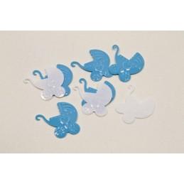Confettis de table landeau bébé
