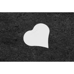 Étiquette marque place forme coeur