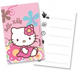 Carte invitation Hello Kitty par 6
