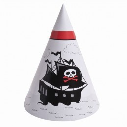 Chapeau d'anniveraire pirate par 6