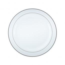 Assiette ronde Arlux bordure argentée par 20
