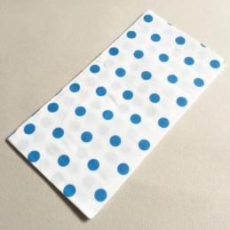 Serviette en papier à pois Bleu
