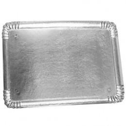 Plateau carton argent 34x45,5cm par 10